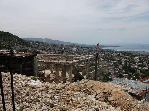 Haitian flag standing