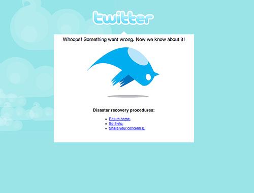 Dead twitter bird